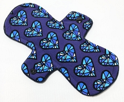 9 Inch Facets Cotton Jersey Day Cloth Pad