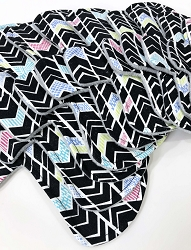 Dreamy Chevrons Cotton Woven Pads with Fleece backs - Pick Your Size!