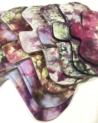 Ice Dyed Bamboo Jersey Pads with Fleece backs - Pick Your Size!