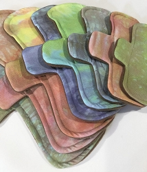 Rainbow Hand Dyed Bamboo Jersey Pads with Fleece backs - Pick Your Size!