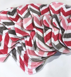 Watermelon Chevron Minky Pads with Fleece backs - Pick Your Size!