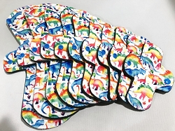 Dinos Organic Cotton Jersey Pads with Fleece backs - Pick Your Size!