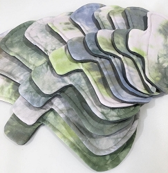 Earthy Hand Dyed Bamboo Jersey Pads with Fleece backs - Pick Your Size!