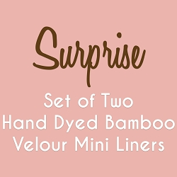 Set of 2 6 Inch Surprise Hand Dyed Bamboo Velour Mini Liner - Wide Width