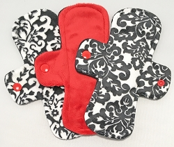 Set of three 8 Inch Minky Light Pads with Fleece backs