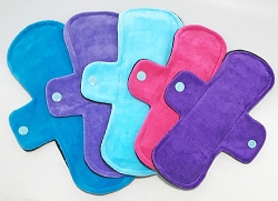Insta-Stash - Set of 5 Cotton Velour Pads with Fleece backs