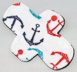 6 Inch Anchors Minky Mini Cloth Pantyliner - Original Width