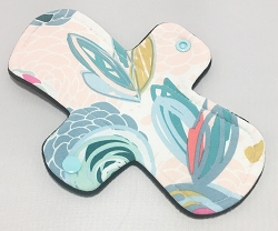 8 Inch Pop Art Blooms Cotton Jersey Light Cloth Pad
