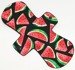 11 Inch Watermelon Slices Cotton Woven Overnight Pad with Fleece back