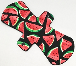 12 Inch Watermelon Slices Cotton Woven Ultimate Overnight Pad with Fleece back