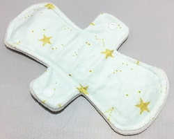 9 Inch Lucky Stars Minky Day Cloth Pad
