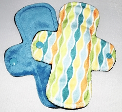 Set of 2 7.5 Inch Minky Cloth Pantyliners