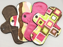 Set of Four 8 Inch Minky Light Pads with Fleece backs