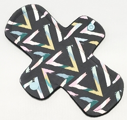 8 Inch Pop Art Triangles Cotton Jersey Light Cloth Pad