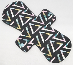 11 Inch Pop Art Triangles Cotton Jersey Overnight Cloth Pad