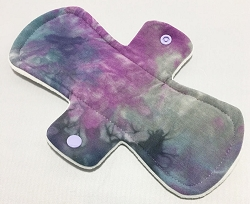 9 Inch Hand Dyed Grapes Bamboo Jersey Day Pad with Fleece back