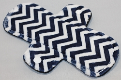 8 Inch Navy Blue Mini Chevron Minky Light Pad with Fleece back