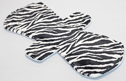 12 Inch Zebra Minky Ultimate Overnight Pad with Fleece back