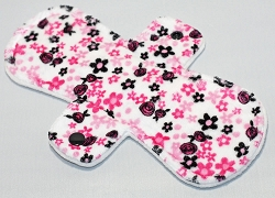 9 Inch Adore Floral Minky Day Pad with Fleece back