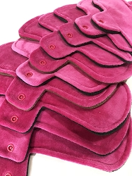 Fuchsia Cotton Velour Pads with Fleece backs - Pick Your Size!