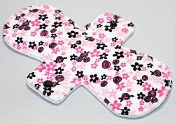10 Inch Adore Floral Minky Heavy Pad with Fleece back