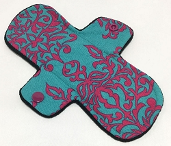 8 Inch Teal Damask Cotton Woven Light Pad with Fleece back