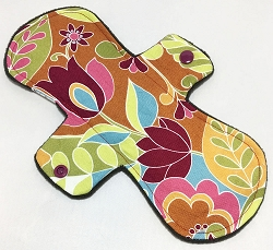 10 Inch  Jungle Blooms Cotton Heavy Pad with Fleece back