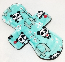 9 Inch Pandas Minky Day Pad with Fleece back