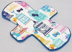 9 Inch Birdcages Cotton Day Cloth Pad