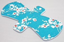 12 Inch Cherry Blossoms Cotton Jersey Ultimate Overnight Cloth Pad