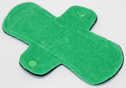 8 Inch Green Cotton Velour Light Pad with Fleece back