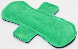 10 Inch Green Cotton Velour Heavy Pad with Fleece back