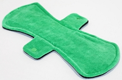 12 Inch Green Cotton Velour Ultimate Overnight Cloth Pad