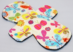 10 Inch Butterflies Minky Heavy Cloth Pad