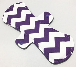 12 Inch Purple Chevron Cotton Jersey Ultimate Overnight Cloth Pad