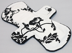 9 Inch Black and White Cotton Woven Day Cloth Pad