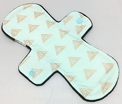 10 Inch Gold Triangles Cotton Heavy Pad with Fleece back