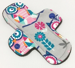 6 Inch Mosaic Owls Cotton Jersey Mini Cloth Pantyliner - Original Width