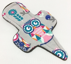 7.5 Inch Mosaic Owls Cotton Jersey Thong Cloth Pantyliner