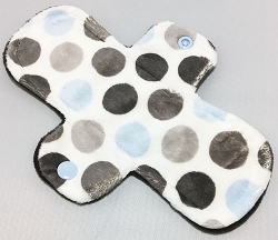8 Inch Blue Dots Minky Light Pad with Fleece back