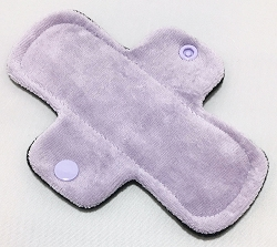 6 Inch Lilac Cotton Velour Mini Cloth Pantyliner