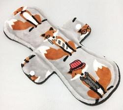 11 Inch Mr Fox Minky Overnight Pad with Fleece back