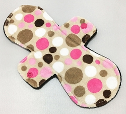 10 Inch Jungle Dot Minky Heavy Pad with Fleece back