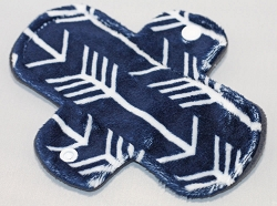 6 Inch Navy Arrows Minky Mini Cloth Pantyliner - Wide Width