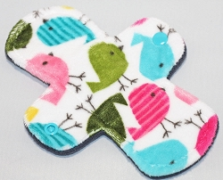 7.5 Inch Hippy Chick Minky Regular Cloth Pantyliner