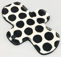 8 Inch Black Dots Minky Light Pad with Fleece back