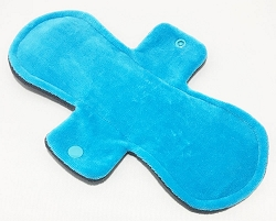 10 Inch Turquoise Cotton Velour Heavy Pad with Fleece back