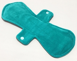 12 Inch Teal Cotton Velour Ultimate Overnight Cloth Pad