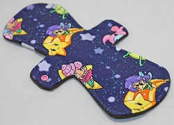 12 Inch Planetary Pixies Cotton Jersey Ultimate Overnight Cloth Pad