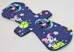 13 Inch Planetary Pixies Cotton Jersey Postpartum Cloth Pad